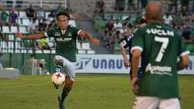 Expósito en el partido contra el CF Talavera. Foto: Laura Pérez (CD Toledo)