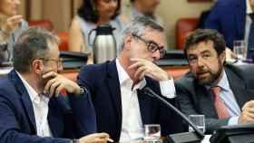 Girauta, Villegas y Gutiérrez, este jueves en la Diputación Permanente del Congreso.
