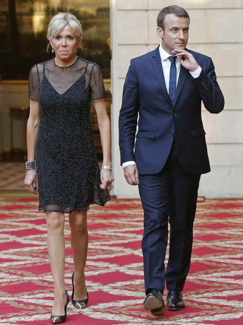 Brigitte y Emmanuel Macron.