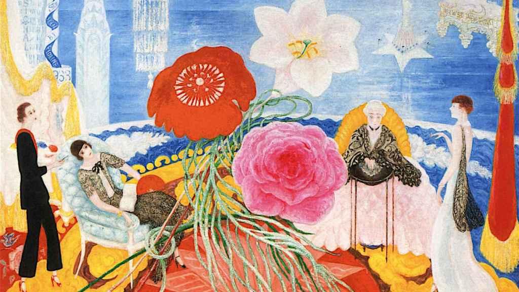 Retrato familiar II, uno de sus cuadros en el MoMA de Nueva York.