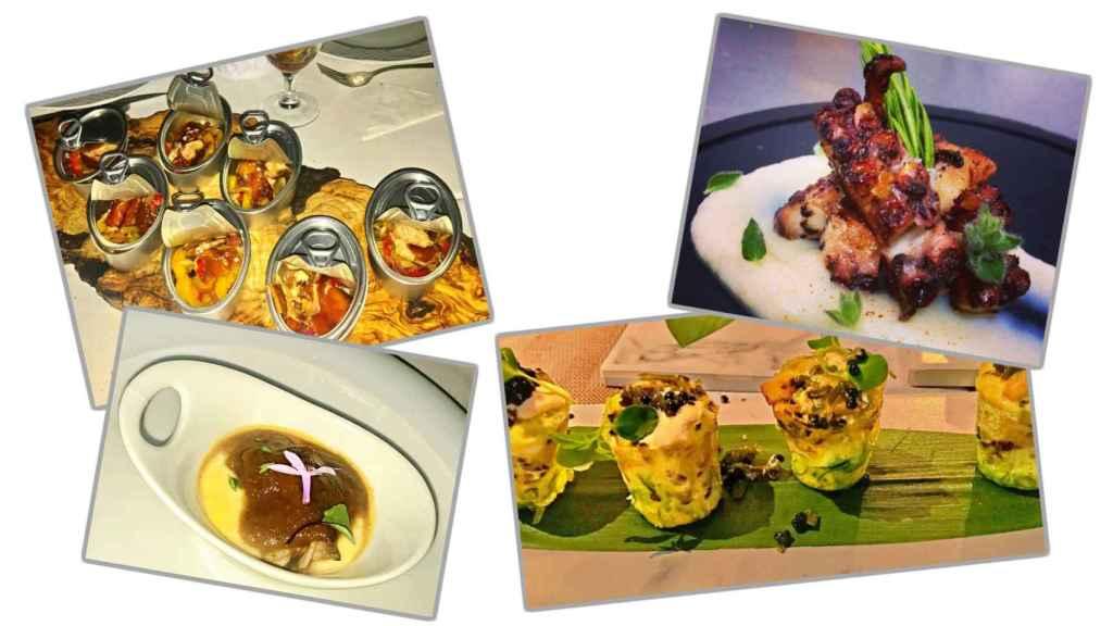 Fotografías de algunos de los platos de Mayte Zaldívar.