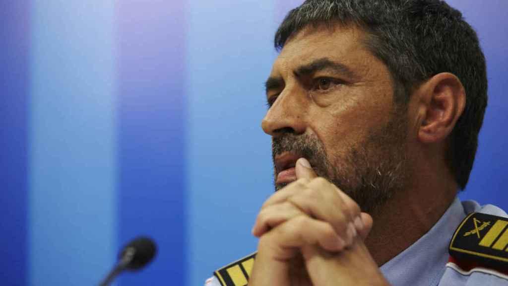Josep Lluís Trapero, durante una de las ruedas de prensa tras el atentado en Barcelona.