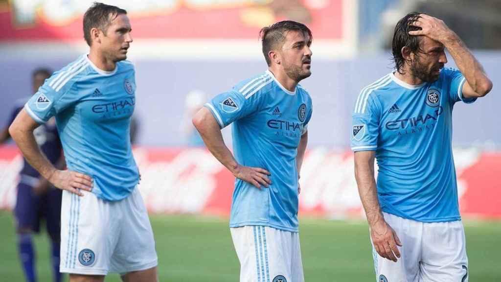 Lampard, Pirlo y Villa comparten vestuario en Nueva York