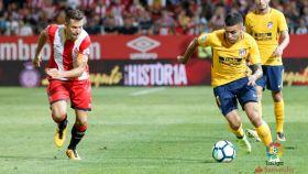Correa encara durante el partido contra el Girona.