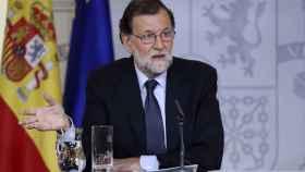 Mariano Rajoy durante la rueda de prensa tras la reunión del Consejo de Ministros.