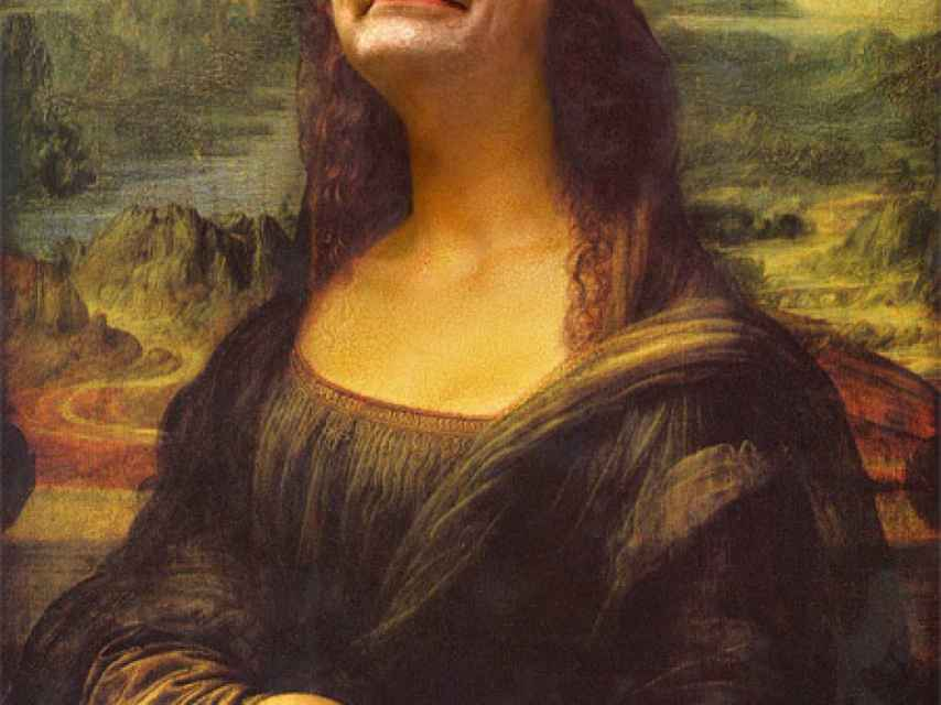 Mr.Bean como la Gioconda