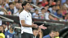 Marcelino García Toral, en elprimer partido de Liga.