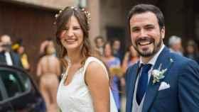Alberto Garzón y Anna Ruiz se casan en Cenicero, La Rioja.