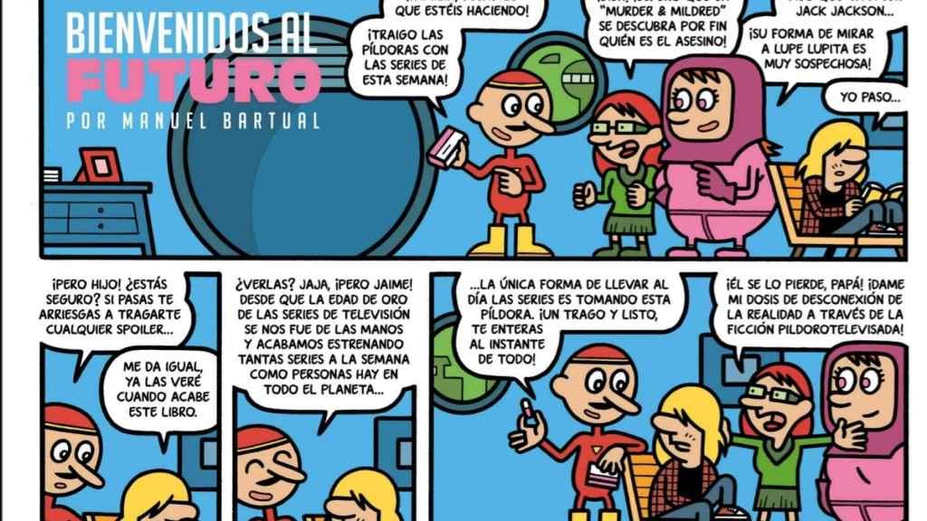 Una de las historietas de Manuel Bartual en Orgullo y Satisfacción