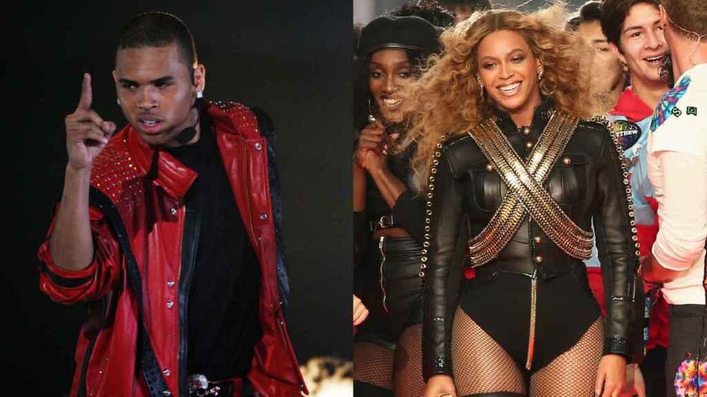 Chris Brown y Beyoncé siempre se han confesado admiradores de Michael Jackson.   Foto: Getty Images.