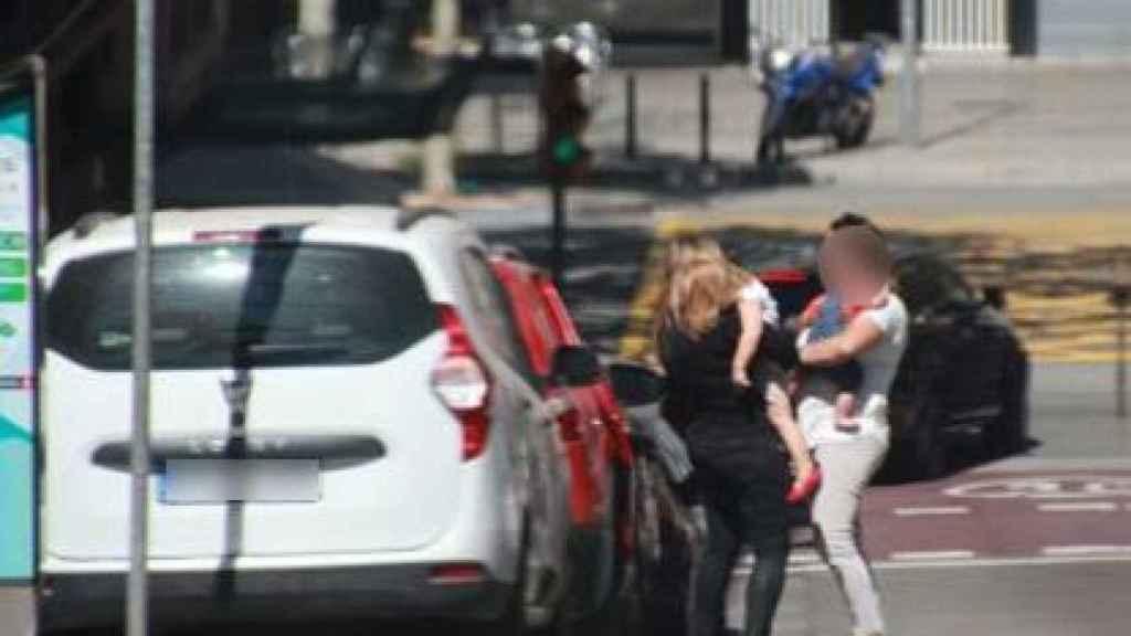 Otras de las imágenes captadas en los seguimientos a la mujer.