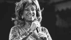 Celia Cruz en los Billboard. Getty.