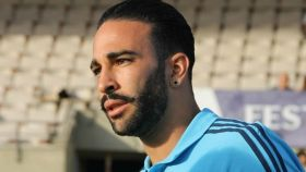 Adil Rami, en un entrenamiento con el Marsella