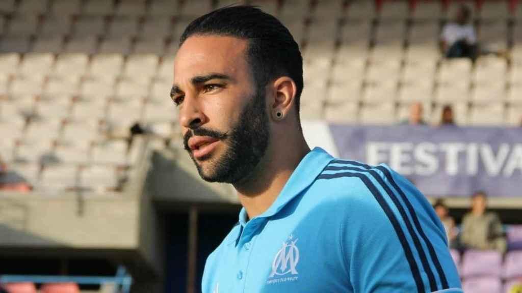 Adil Rami en un entrenamiento con el Marsella
