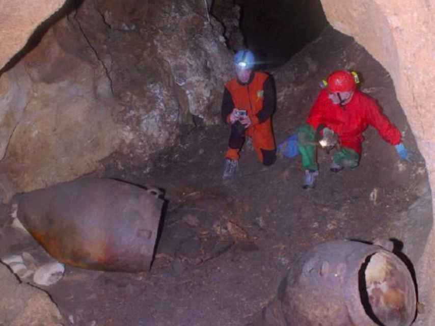 Los arqueólogos en la expedición.