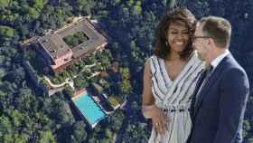Vista aérea de Ses Planes, la lujosa finca donde se aloja Michelle Obama.