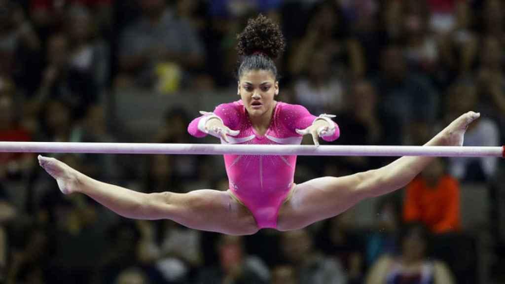 Lauren Hernández durante los pasados Juegos Olímpicos de Río.