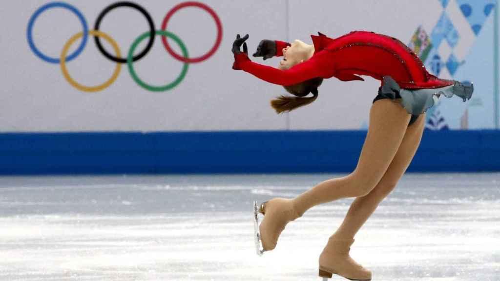 Yulia Lipnitskaya, durante su participación en los Juegos Olímpicos de Sochi.