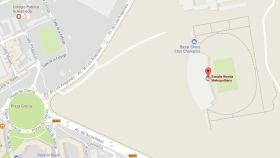 Captura de Google Maps donde aparece el nuevo comercio del Metropolitano.