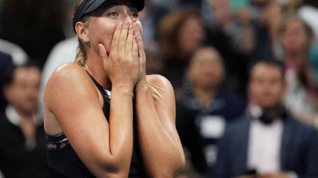 Sharapova, tras ganar a Halep en el US Open