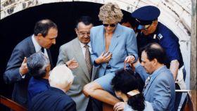Diana y su magnetismo con los hombres. En la imagen, en Venecia.