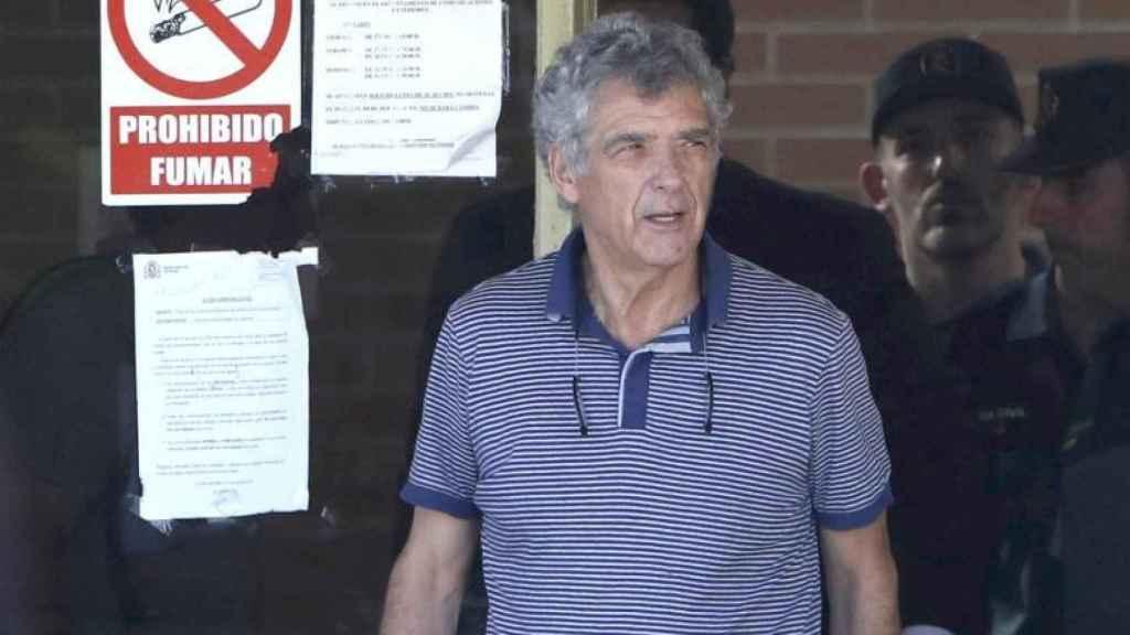 Ángel María Villar, el día que salió de la cárcel.