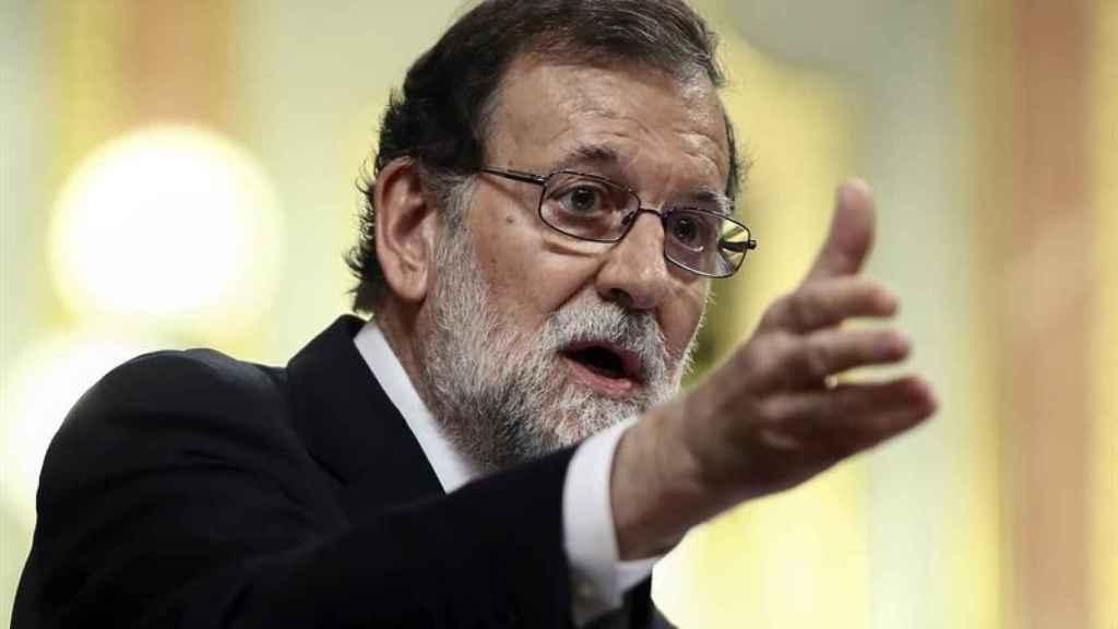 Rajoy, durante su intervención en el pleno.