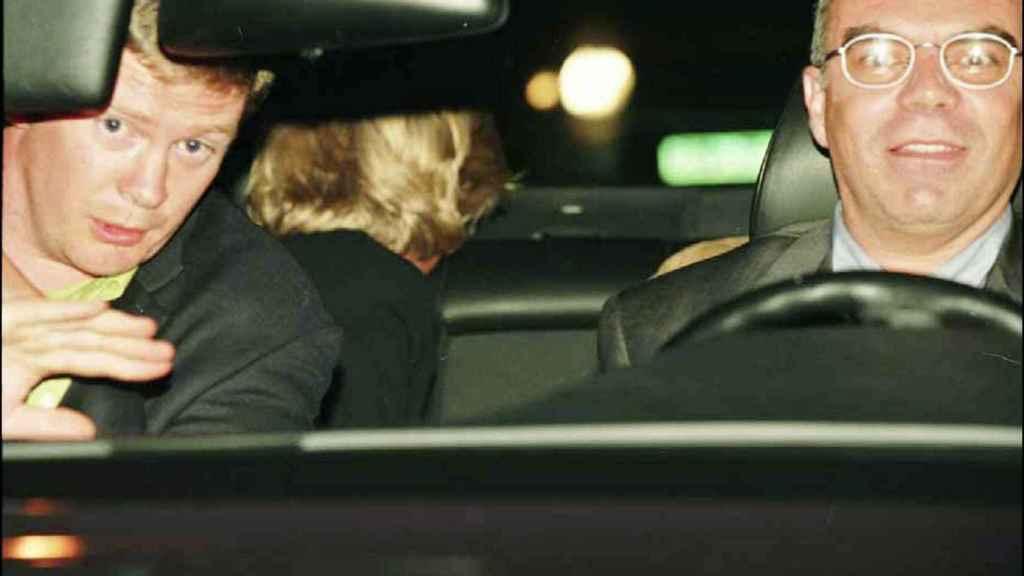 Diana, en el interior del coche, minutos antes del fatal accidente.