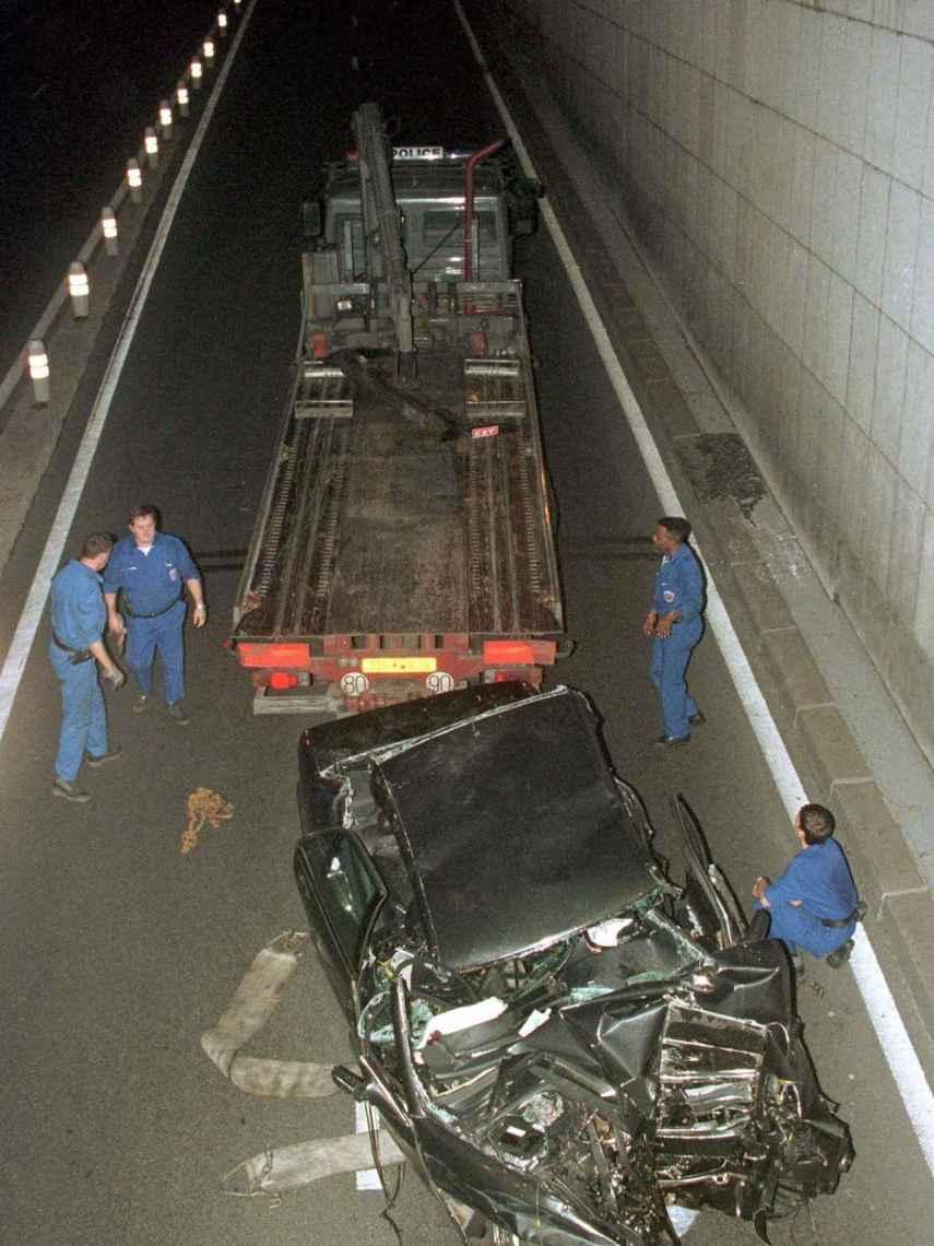 Estado del coche en el que viajaba Diana el 31 de agosto de 1997.