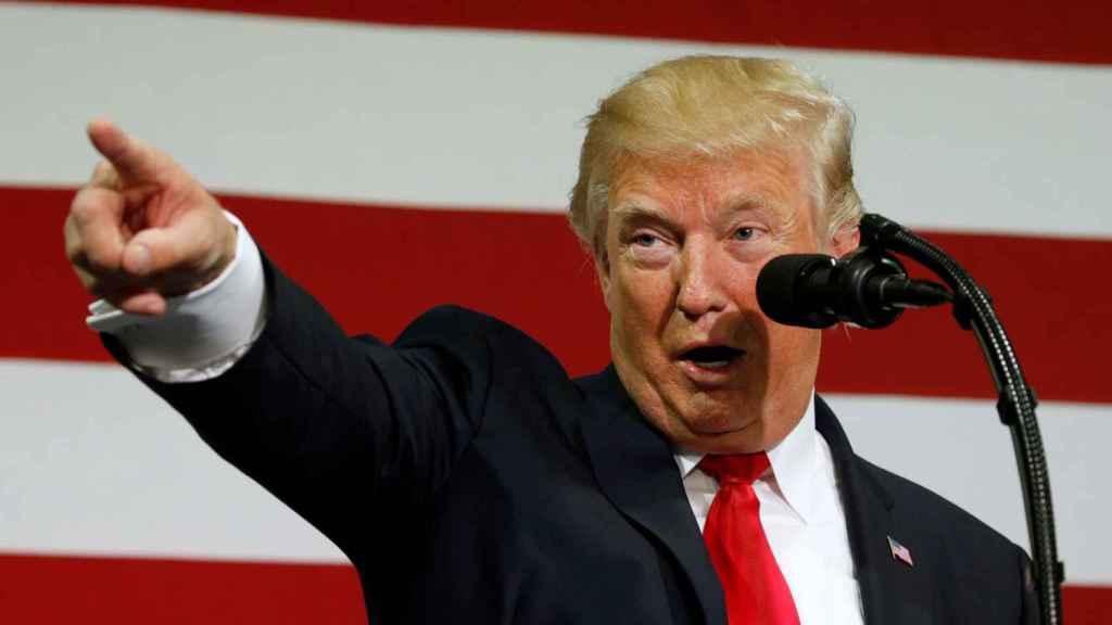 Donald Trump, durante su mitin para presentar la reforma fiscal.