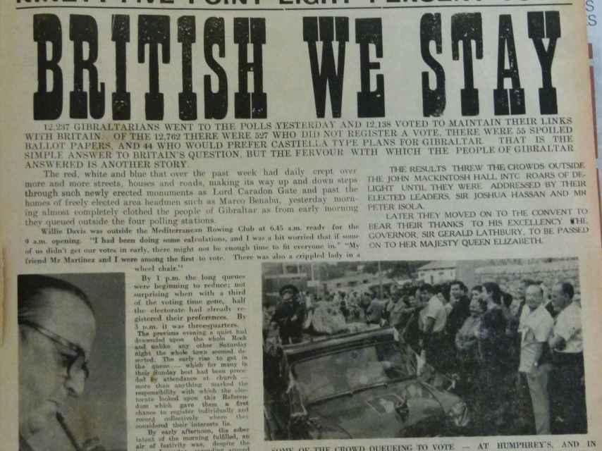 Recorte del Gibraltar Chronicle.