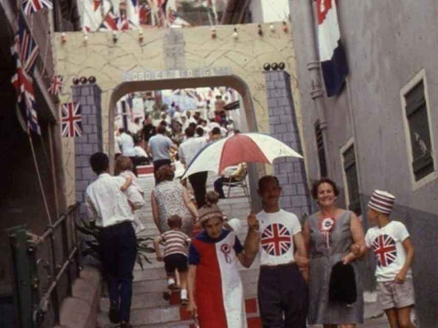Los gibraltareños, el día del referéndum.
