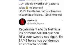 policia nacional netflix tuit estafa