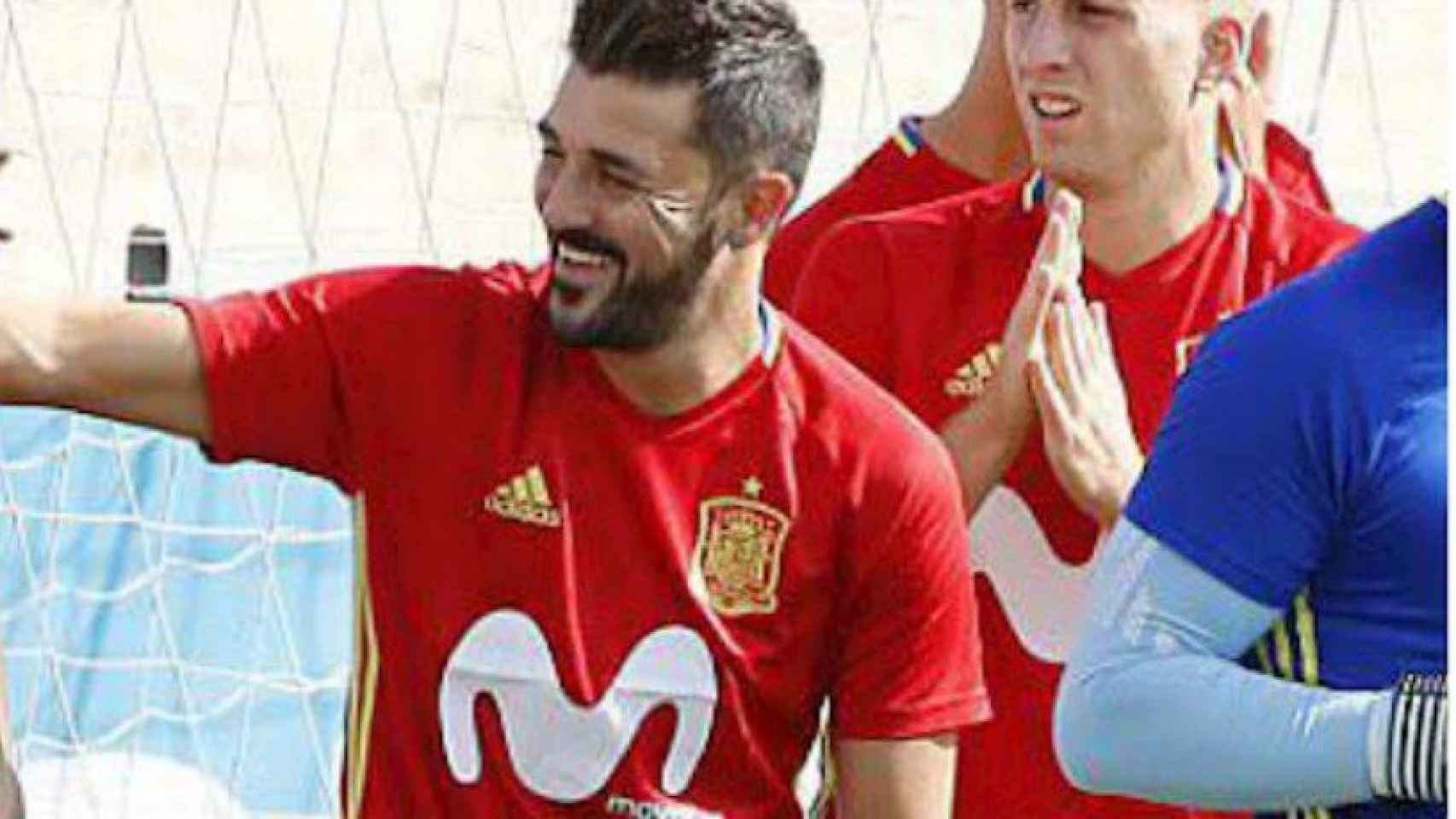 Villa, de vuelta en la Selección. Foto. Twitte (@Guaje7Villa)