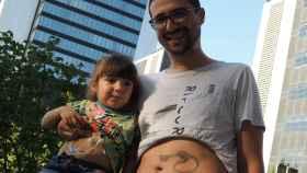 Jesús y su hija Nora, que cumplirá cuatro años en noviembre.