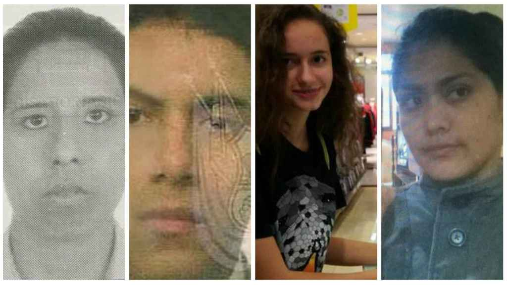 El líder de la secta convive con tres mujeres. Una es la española Patricia Aguilar (centro), la única con la que no tiene hijos.
