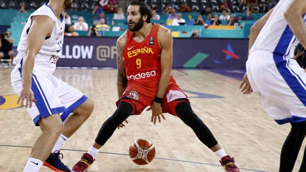 Ricky Rubio en el último Eurobasket.