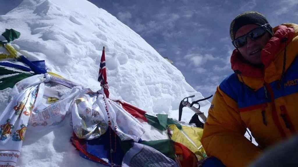 Antonio Jesús Vélez, en plena escalada.