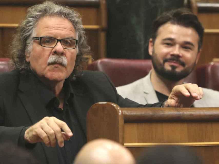Joan Tardá y Gabriel Rufián, en el Congreso.