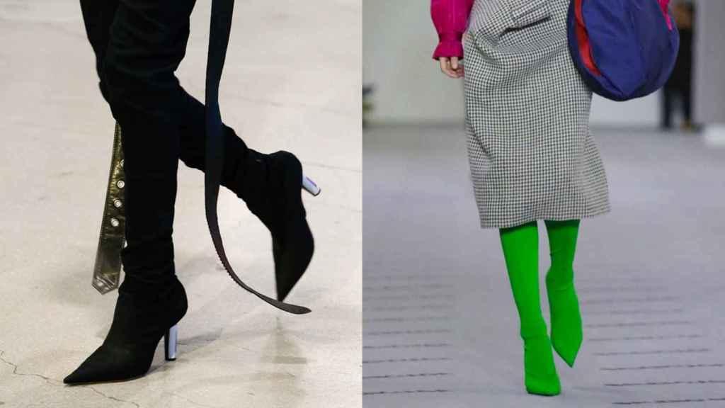 Propuestas vistas en los desfiles de Vetements y Balenciaga.   Foto: Getty Images.
