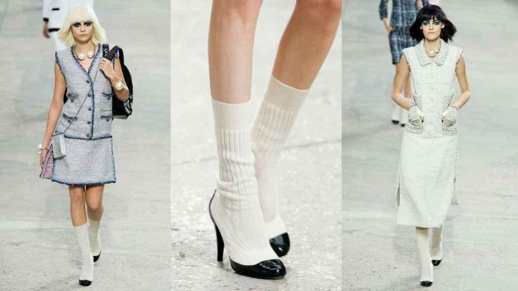 Sock-pump de Chanel de la colección Prêt-à-Porter Primavera-Verano 2014.   Foto: Getty Images.