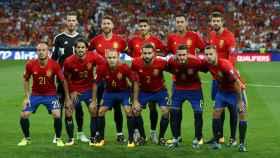Alineación titular de España contra Italia.
