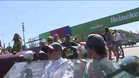 Se para el coche de Fernando Alonso.
