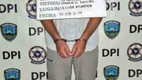 Imagen de Joan A.B tomada por la policía de Honduras.