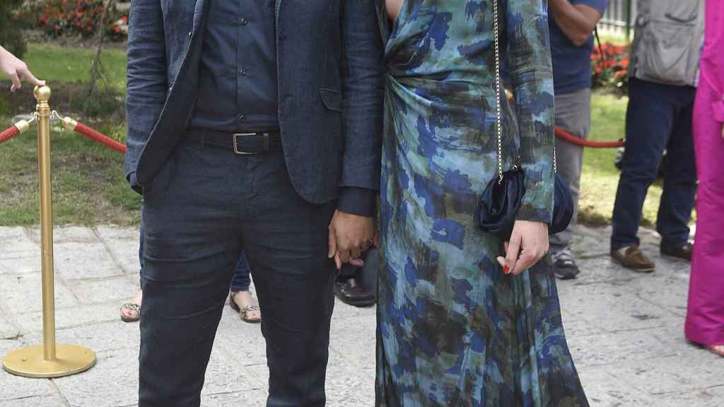 Dafne Fernández y su pareja, Mario.
