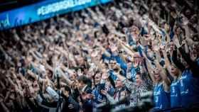 La afición de Islandia, una de las mejores del Eurobasket.