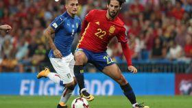 Isco en el último partido de España contra Italia en el Santiago Bernabéu.