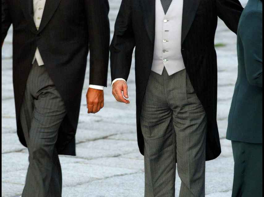 Silvio Berlusconi, en la boda de 2002.