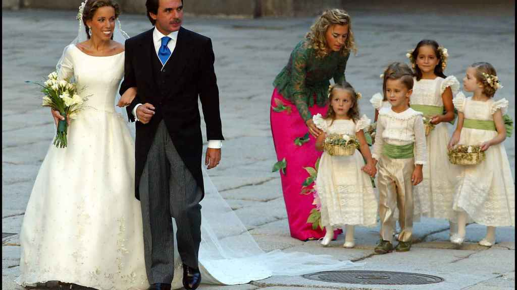 Ana Aznar con su padre, el día más feliz de su vida.
