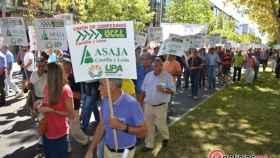 manifestacion sequia agricultores upa uccl asaja valladolid 17